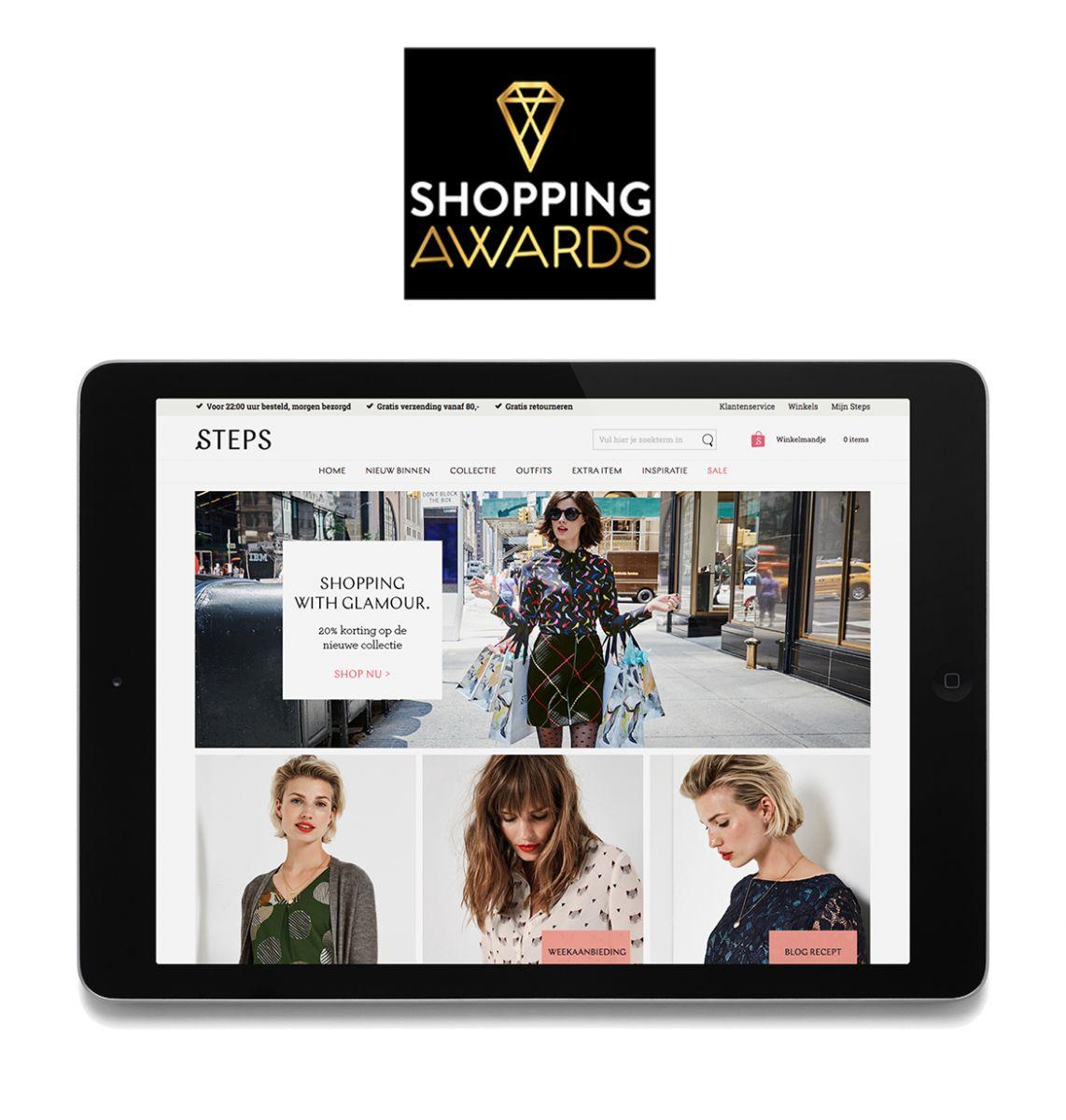 Steps: award for best webshop!